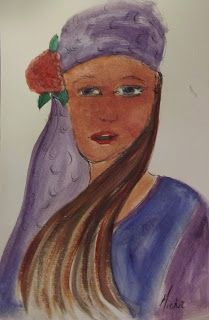 A Pretty Talent Blog: Product Test - Faber-Castell Watercolour Tubes Flat Brush, Portrait Sketches, Paint Drying, Faber Castell, Product Review, Watercolor Paper, Color Mixing, Vibrant, Portraits