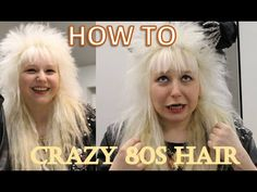 """the ULTIMATE 80s hair tutorial - http://ezbeautytips.com/1/the-ultimate-80s-hair-tutorial/  Get crazy 80s Vixen hair with this tutorial. (I also added my make-up thing so it's more of a """"get ready with me"""" video, but hey) I live and breathe 80s hard rock and heavy metal, I am NOT someone who is """"lol trying out 80s hair for a theme party ahaha!!!1!!"""". The 80s are my life and I put my whole heart in my hair and outfits. Don't hesitate to ask"""