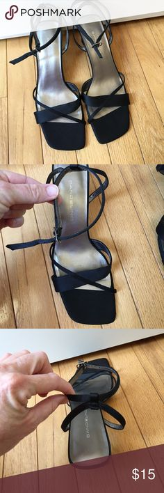 Black heels NWOT black sandal heels   Made by Bandolino Bandolino Shoes Heels
