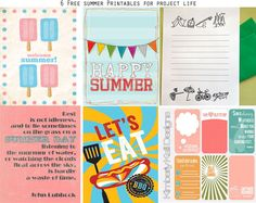 6 summer printable freebies for project life