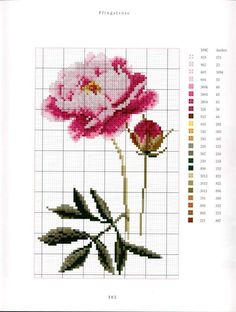 Cutting Board, Cross Stitch, Choux, Beautiful Flowers, Flower Chart, Needlepoint, Crossstitch, Painted Canvas, Embroidery