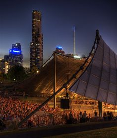 Sidney Myer Music Bowl, Melbourne, Australia by Andrew Hux, via Flickr  http://www.lonelyplanet.com/australia/melbourne/activities/outdoors/sidney-myer-music