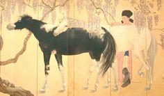 Japanese Print Horse Wisteria Flowers Ukiyoe by VintageFromJapan, $12.00  #art…