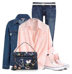 """""""Pink Shoes"""" by lisa-church ❤ liked on Polyvore featuring DL1961 Premium Denim, Dorothy Perkins, Sans Souci, Converse and Valentino"""