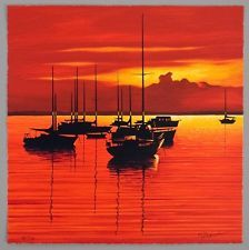 $ SALE -  Igor Medvedev SCARLET TIDE 2006 LARGE serigraph AP 47/100 Limited. We saw this at an art auction on the ship. I am trying to find it as a print.