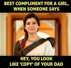 Appa ❤ # love that compliment u papa to the square of infinity Father Daughter Love Quotes, Love My Parents Quotes, Mom And Dad Quotes, Crazy Girl Quotes, Funny Girl Quotes, Good Life Quotes, True Quotes, Papa Quotes, Dad Daughter