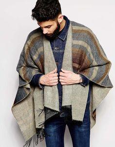 diva-closet | Rakuten Global Market: ASOS like featured River Island Cape poncho mens unisex outerwear black