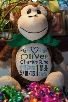 Personalized Baby MEMORIAL Baby Cubby by CelebrateWithThread
