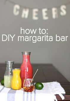 Learn how to make an amazing margarita bar for your next party!