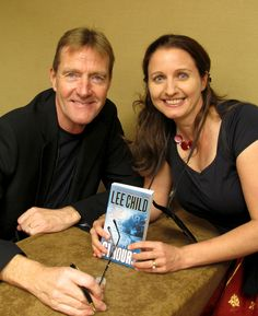 Thriller author J.F.Penn with Lee Child at Thrillerfest 2012 in New York