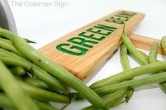 GREEN BEANS Garden Marker BEANS Garden Sign by TheCommonSign