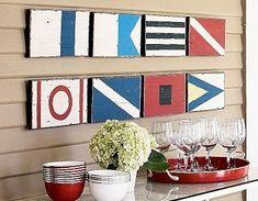 Banderas en madera