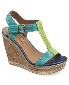 Hush Puppies Women's Shoes, Renown T-strap Platform Wedge Sandals - Shoes - Macy's