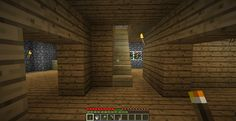 LizC864 Minecraft California Craftsman Mission looking in from front door