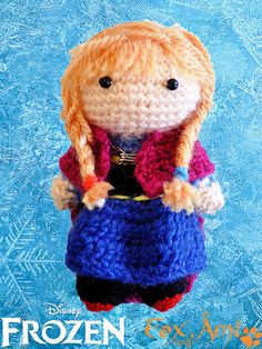 Disney Frozen Anna Amigurumi Crochet Pattern - $4
