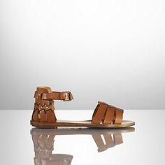 Marlis Calfskin Flat Sandal