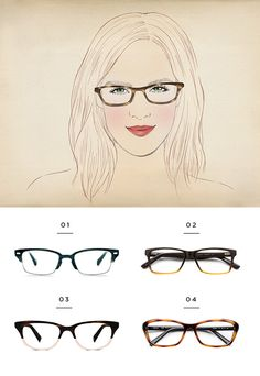 The Best Glasses for All Face Shapes - Verily Glasses For Oblong Face, Oblong Face Shape, Glasses For Your Face Shape, Fake Glasses, Oval Face Shapes, Glasses Frames, Oval Shape, Warby Parker, Pear Shaped Face