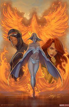Cyclops, Emma Frost and Phoenix