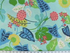 Indoor/Outdoor Fabric Turquoise Turquoise by DecorativeFabrics, $13.95