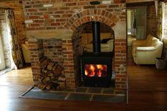 Wood burning stove insert fireplaces log burner ideas for 2019 - Wood Burning Fireplace Inserts Wood Burning Stove Insert, Wood Stove Surround, Wood Stove Hearth, Wood Burning Fireplace Inserts, Fireplace Logs, Farmhouse Fireplace, Wood Burner, Fireplace Ideas, Cottage Fireplace