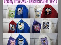 10x10 Dreamy little Owls - Handtuch