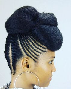 Very beautiful natural up-do! (Black Women Natural Hairstyles)