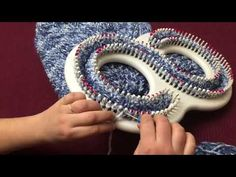 (140) How To Loom Knit a Blanket Or Afghan In a Cable Knit Pattern - YouTube