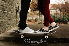 Skateboard- Kissing- Love- Central Kentucky Wedding & Family Photography http://www.allenacoxphotography.com