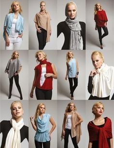 Patrón gratis: poncho convertible en blusa, cárdigan, túnica, pañuelo…Sin coser - yo elijo Coser