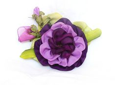 Silk purple wedding brooch rose waist neck or wrist   #gift #birthday #FancyCard #embroidered_cards #wedding #newdwelling #usedthreadsflorals #Keepsakecard #fiberart #unusualgift #fiberartist #embroideryart #Bohho #Rusticstyle #Shabbychic #Vintage #Victorianstyle #EmbroideryByJuliaUA