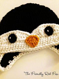 The Friendly Red Fox: Free Penguin Crochet Hat Pattern