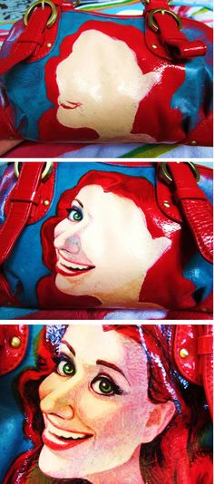 Hand Painted 1950s girl purse by Love, Miranda Marie! DIY painted purse.