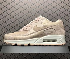 bfeac05ed3e6 Womens Nike Air Max 90 Premium Particle Beige White For Sale