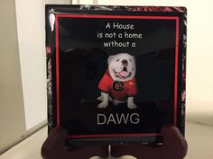 A personal favorite from my Etsy shop https://www.etsy.com/listing/227963491/georgia-bulldog-dawg-425sq-coasters-set
