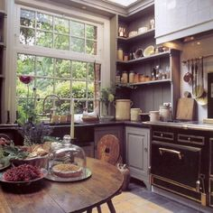 """<p>Old-fashioned stoves are iconic and quite popular, but very pricey. You can look out for older stoves at yard and estate sales, but they won't work forever and they may not have all the features you want.</p><p>However, you can still add some """"old-school cool"""" into your kitchen. Consignment shops, thrift stores and yard sales are great places to find old pottery, plates, utensils, carafes, canisters and textiles. Use these pieces, or set them out as kitchen decor.</p><p>Even old ..."""
