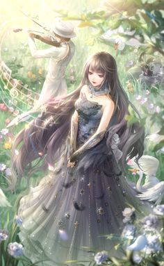 Anime Girl Dress, Anime Art Girl, Manga Girl, Beautiful Fantasy Art, Beautiful Anime Girl, Anime Angel, Anime Fairy, Cute Anime Character, Character Art