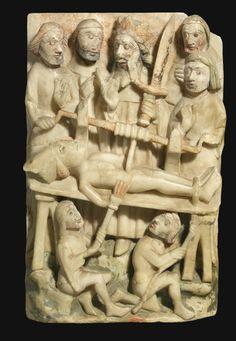 Martyre de saint Erasme - XVe siècle - Angleterre - albâtre - 41X26 - collection privée (vente Sotheby's)