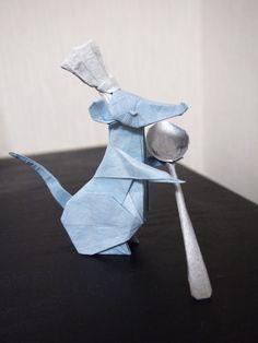 Chef+Rat Origami And Kirigami, Origami Paper Art, Oragami, Diy Origami, Napkin Folding, Paper Folding, Clay Crafts, Arts And Crafts, Paper Crafts