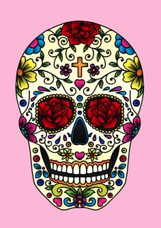 Sugar Skull by Jade Boylan, via Behance