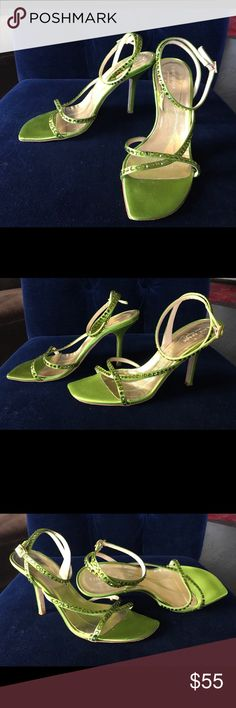 Green Kate Spade Beaded Sandals These are the yummiest shade of green! Delicate and feminine sandals will take an outfit to the next level. I wore them twice to two separate weddings and they are in very good pre-owned condition.  Check out my closet for other great stuff. I have a terrible shoe habit and it's time to cull the herd! kate spade Shoes Heels