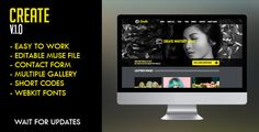 Create Muse Template . Create has features such as Resolution: Desktop, Software Version: Muse CC 2014