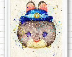 Star Wars Art Print Watercolor Painting Tsum by NeighborArts Arte Disney, Disney Diy, Tsum Tsums, Pinturas Disney, Poster Prints, Art Print, Printing On Burlap, Disney Tsum Tsum, Burlap Fabric