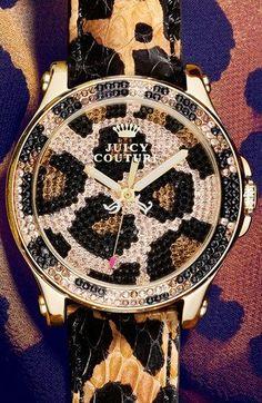 juicy couture horloge leopard