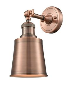Hey Look What I found at Lighting New York Innovations Lighting Addison 1 Light 5 inch Antique Copper Wall Sconce Wall Light Swing Arm Wall Sconce, Wall Sconce Lighting, House Lighting, Bathroom Sconces, Wall Sconces, Bathrooms, Bathroom Ideas, Innovation, Vintage Led Bulbs