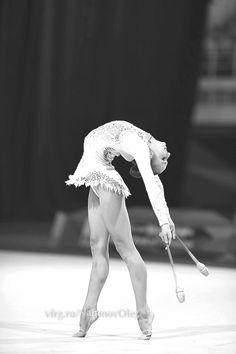 the beauty of rhythmic gymnastics black and white clubs