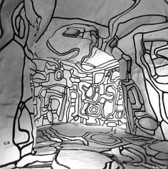 Jardin d'hiver by Jean Dubuffet. Epoxy painted polyurethane, (model First major work by Jean Dubuffet, acquired in 1976 by the Centre Pompidou, Paris. Land Art, Illustration Photo, Illustrations, Georges Pompidou Centre, Jean Dubuffet, Art Brut, Outsider Art, Art Plastique, Public Art