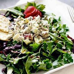 The Easiest Chicken Salad on Earth | Shine Food - Yahoo! Shine--I've got to try this!