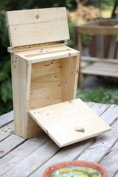Used Woodworking Tools For Sale Key: 6022567894 Post Box Wooden, Wooden Mailbox, Diy Mailbox, Wall Mount Mailbox, Wooden Diy, Mail Drop Box, Funny Home Decor, Bois Diy, Diy Holz