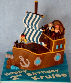 Jake and the Neverland Pirates Cake maybe do a sheet cake with a toy ship on it?