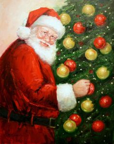 Santa with Ornaments (by Mary Miller Veazie)